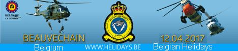 Helidays 2017 Everything you always wanted to know about the Helicopter's world & the Special Forces will be at Beauvechain Air Base on 12th April 2017