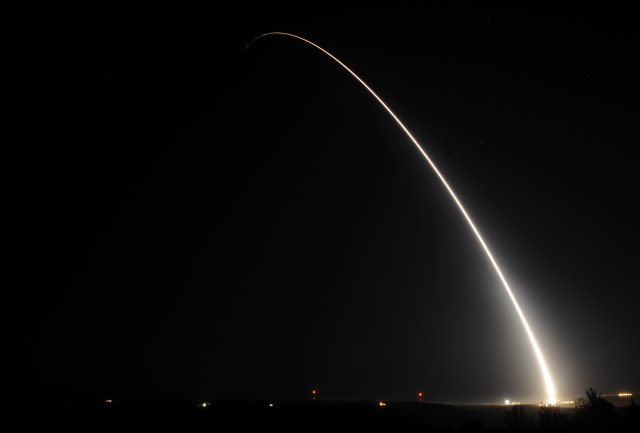 USAF Global Strike Command successfully test launched an unarmed Minuteman III ICBM 640 001