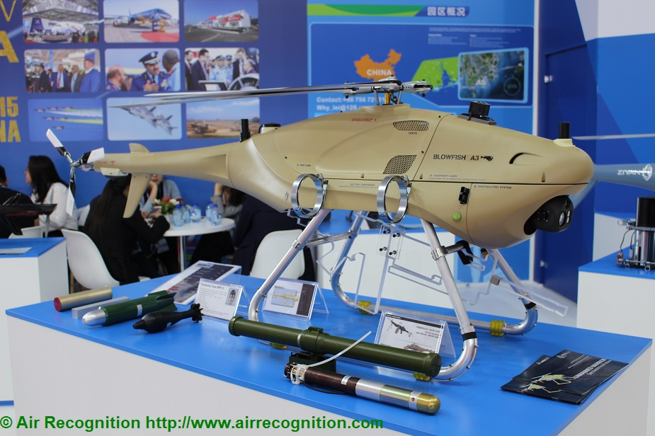 MAKS 2019 Ziyan showcased Blowfish A3 UAV