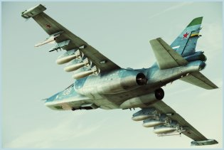 Su-25 close air support combat aircraft technical data sheet specifications intelligence description information identification pictures photos images video Russia Russian Air Force aviation air defence industry military technology