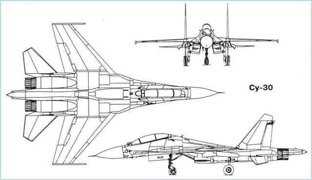 Su-30 Su-30M Sukhoi fighter aircraft technical data sheet specifications intelligence description information identification pictures photos images video Russia Russian Air Force aviation air defence industry