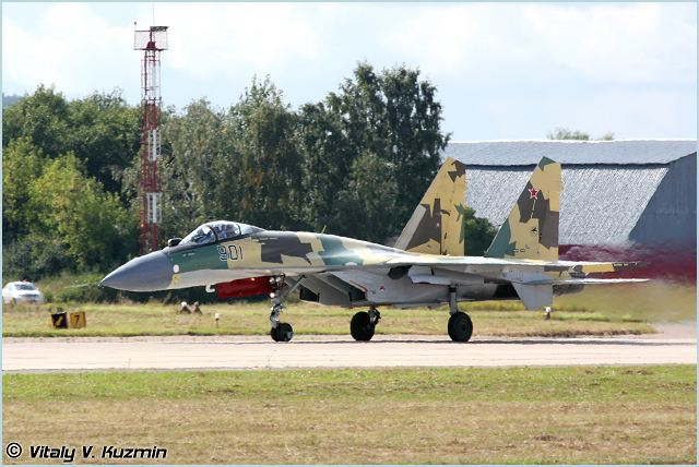 Su-35 Sukhoi multifunctional multirole fighter aircraft technical data sheet specifications intelligence description information identification pictures photos images video Russia Russian Air Force aviation air defence industry