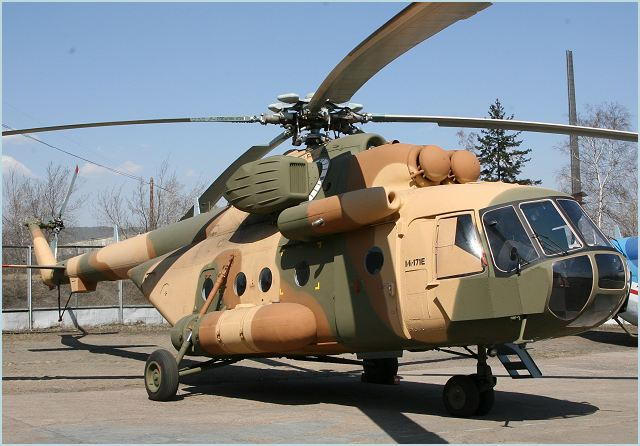 Two Russian Mil Mi-171E helicopters have been handed over to the Argentine Air Force command in Buenos Aires, Rosoboronexport reported on Monday, December 5, 2011.