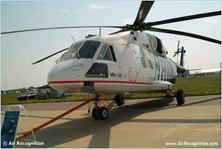 Mi-38 transport helicopter technical data sheet specifications intelligence description information identification pictures photos images video Russia Russian Air Force defence industry technology