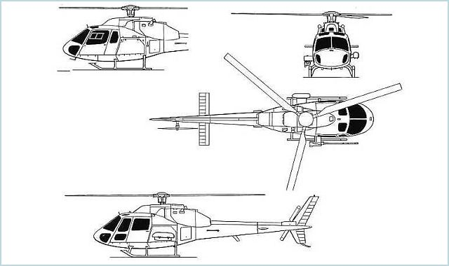 Line Drawing Helicopter : Aviones caza y de ataque eurocopter as fennec