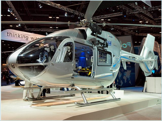 The EC145 T2 is Eurocopter's evolved version of the popular twin-engine EC145, incorporating new Arriel 2E engines, along with the company's Fenestron shrouded tail rotor, upgraded main and tail rotor gear boxes, new digital avionics suite and a 4-axis autopilot. It is tailored for the Middle East's emerging needs in law enforcement, border surveillance, medical airlift and other missions.