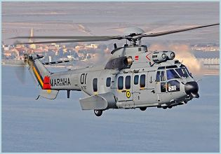 EC735 Super Cougar Caracal Eurocopter helicopter technical data sheet specifications intelligence description information identification pictures photos images video France French Air Force defence industry technology tactical transport
