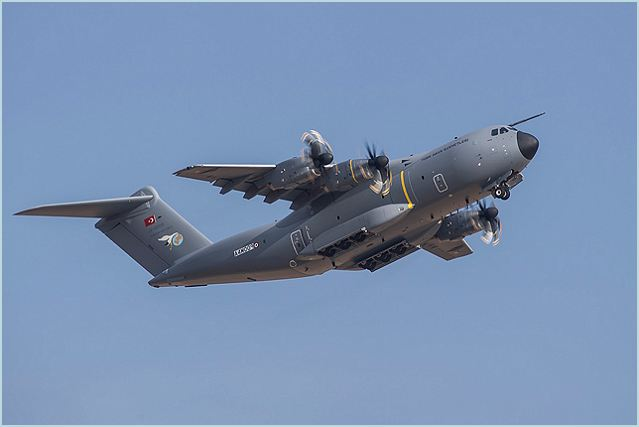 The first production Airbus Military A400M new generation airlifter for the Turkish Air Force (TAF) has been painted and flown for the first time in its new markings. The aircraft is the first of ten ordered by Turkey and will be delivered in the coming weeks.