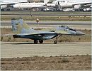 A MiG-29 fighter aircraft of the Iranian Army Air Force conducted its test flight successfully on Saturday, Auguxst 4, 2012, after being overhauled by local experts. The MiG-29 aircraft which was down for 12 years could experience its first flight after it was overhauled at Shaheed Fakouri air base in Iran's Northwestern city of Tabriz, which took 21,000 man/hour of work.