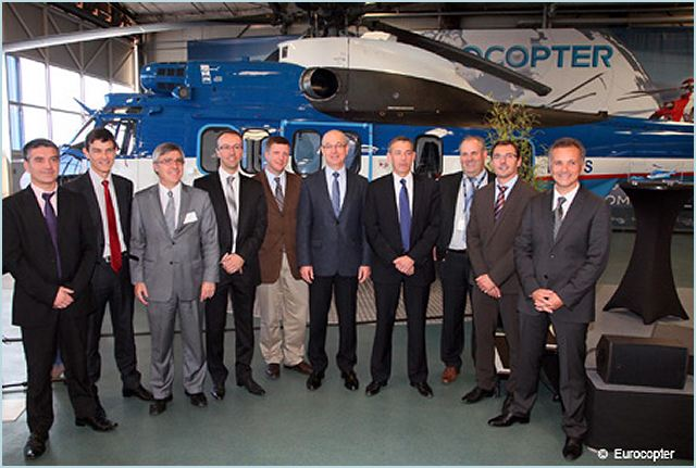 AIRTELIS, a wholly-owned subsidiary of RTE specializing in heliborne operations, received its first EC225 helicopter today from Eurocopter – the world's leading helicopter manufacturer in the civil market. The delivery ceremony was held in Marignane in France's Bouches du Rhône department, home to Eurocopter's headquarters.