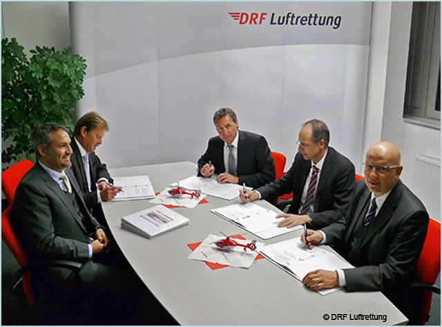 Eurocopter and the German air rescue organisation DRF Luftrettung signed a purchase agreement last night for 25 helicopters of the newest generation – the EC145 T2. This purchase makes the air rescue organisation Europe's largest customer for this type of helicopter.