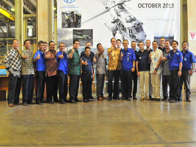 PT Dirgantara Indonesia/Indonesian Aerospace (IAe) has delivered the first complete main fuselage assembly it has produced for Eurocopter EC725 and EC225 helicopters, marking a significant milestone in the companies' industrial partnership.