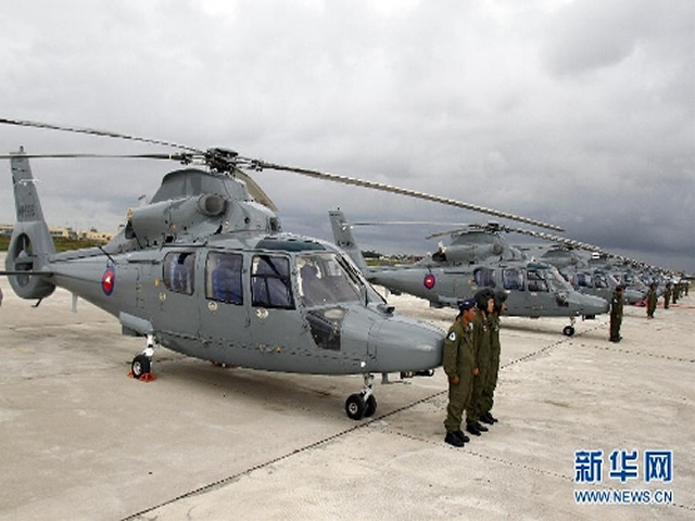 Twelve China National Aero-Technology Import and Export Corporation (CATIC) Zhi-9 (Z-9) utility helicopters, which Cambodia had purchased from China, were delivered to the Royal Cambodian Air Force on Monday.