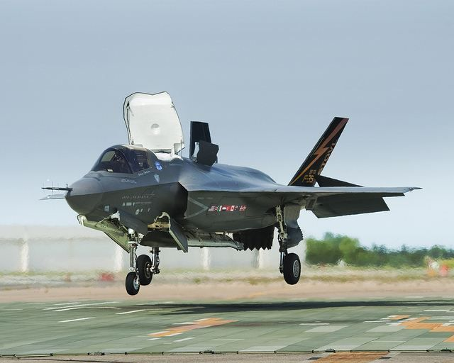 In an important program milestone enabling U.S. Marines Corps Initial Operational Capability (IOC) certification, the Lockheed Martin F-35B recently completed required wet runway and crosswind testing at Edwards Air Force Base, California.