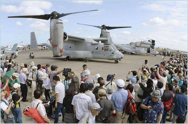 Defense Minister of Japan Itsunori Onodera said Sunday the Self-Defense Forces plans to deploy MV-22 Osprey transport aircraft at Saga airport when it begins introducing the U.S. tilt-rotor plane in fiscal 2015. In his first public mention of an expected deployment site for SDF-operated Osprey aircraft, Onodera told reporters he recently informed Saga Gov. Yasushi Furukawa of the plan.