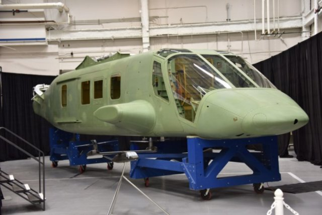 Spirit AeroSystems Inc. announced it has completed the first fuselage to Bell Helicopter for the Joint Multi-Role Technology Demonstrator (JMR-TD) program. The unit was designed and assembled in Spirit's rapid prototyping facility in Wichita, Kan., in just 22 months. The composite fuselage is being prepped to ship to Bell's Amarillo, Texas , facility for final assembly.