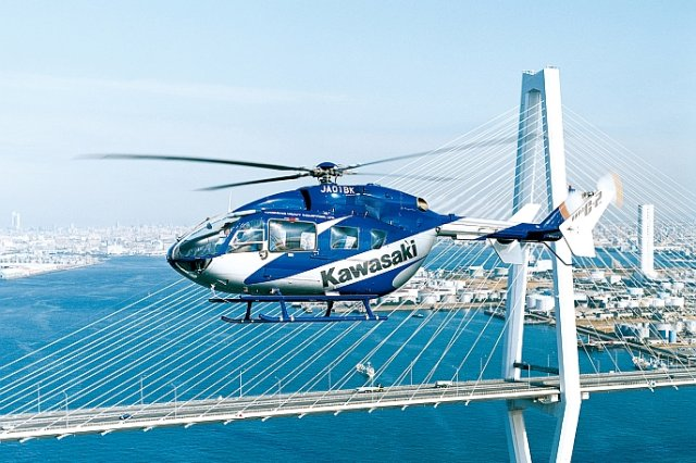 Kawasaki delivered two BK117 C 2 helicopters to Japan s National Police Agency 640 001