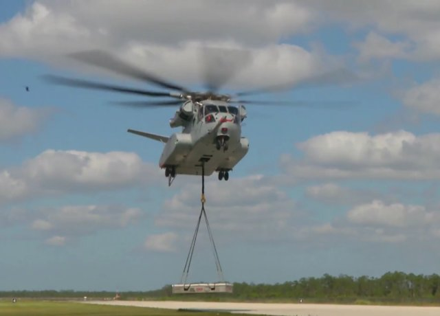Sikorsky CH 53K concludes first external load flight test 640 001