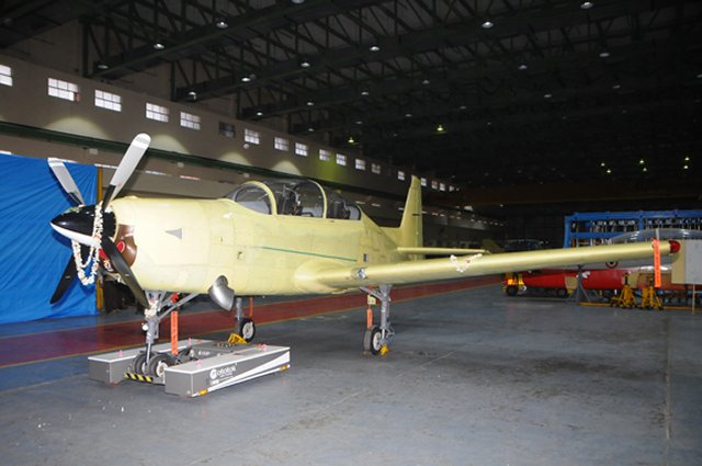 HAL unveils first prototype of its HTT 40 basic training aircraft 640 001