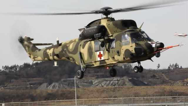 Medical transport variant of KAI s Surion helicopter performed its maiden flight 640 001