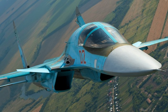 Two new Su 34 strike fighters delivered to the Russian Air Force 640 001