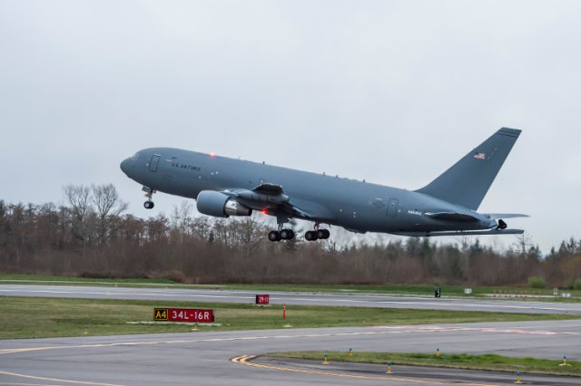 Boeing second KC 46A multirole tanker aircraft took to the skies 640 001