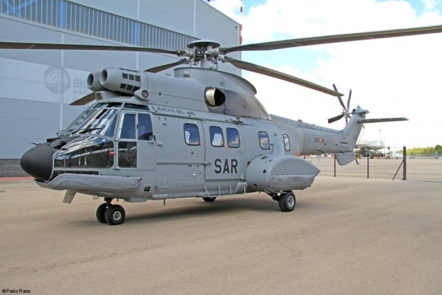 Spanish Air Force receives its first H215 SAR helicopter 640 001