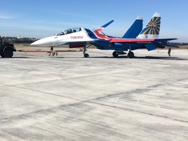Russian Knight aerobatic team reportedly received  first Su 30SM fighter jet 640 001