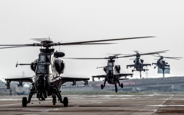 WZ 1  attack helicopter now deployed in all PLA aviation units 640 001