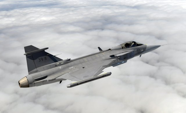 Saab lands 47 mn order for new Gripen E equipment 640 001