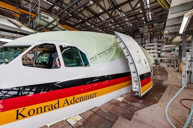 Germany upgrading its Konrad Adenauer presidential transport aircraft 640 001