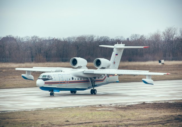 Russian Emergencies Ministry receives first production Be 200ChS amphibious aircraft 640 001