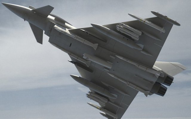 Eurofighter Typhoon fighter jets achieves further Brimstone Missile Integration Flight Trial 640 001