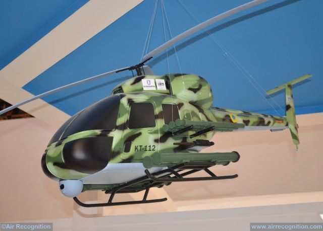 Ukrinmash introduces new KT 112UD light combat helicopter at IDEX 2017 640 001