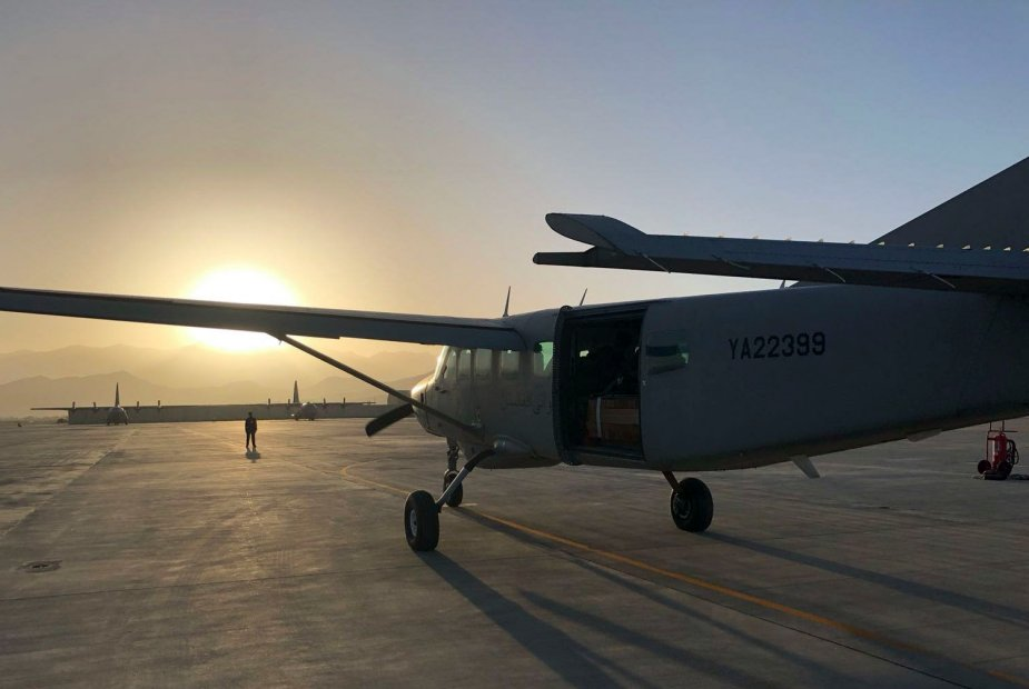 Afghan Air Force C 208 successfully completes first emergency combat airdrop 001