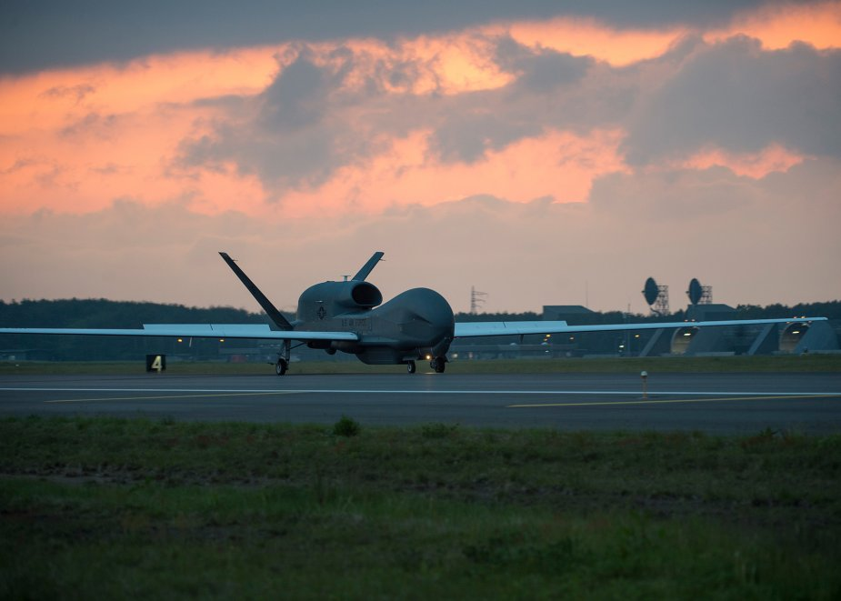 US Air Force RQ 4 Global Hawk returns to Misawa AB 001