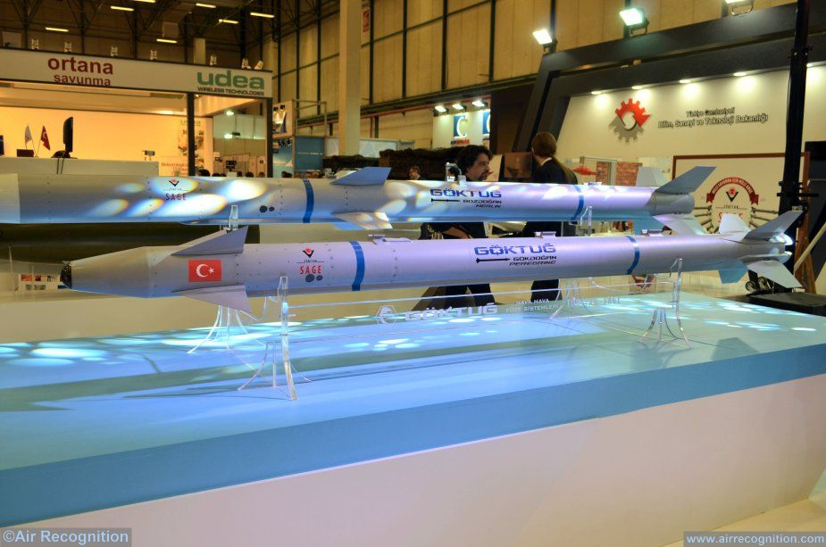 Turkey  first home made r to air missiles successfully test fire 001