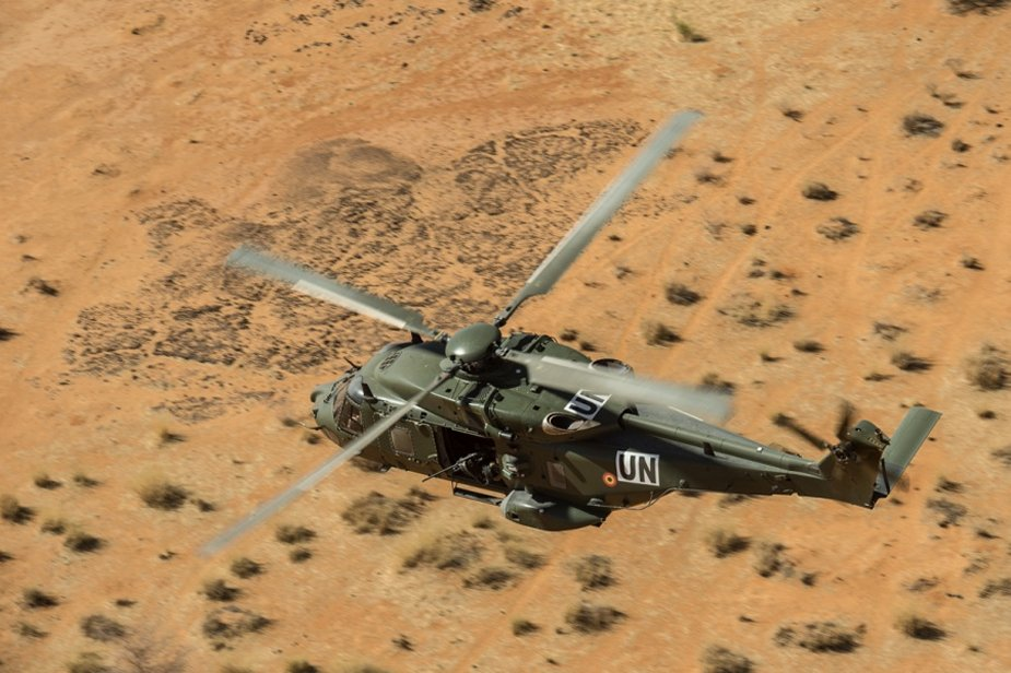 Belgian NH90 helicopter performed first operational mission in Mali 001