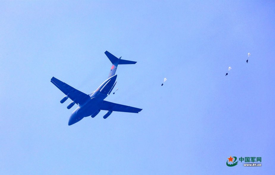 PLAAF Y 20 airlifter conducts first airdrop and air delivery training exercise 001