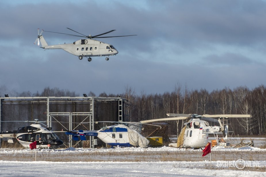 Russian HelicoptersMi 38T helicopter takes to the sky