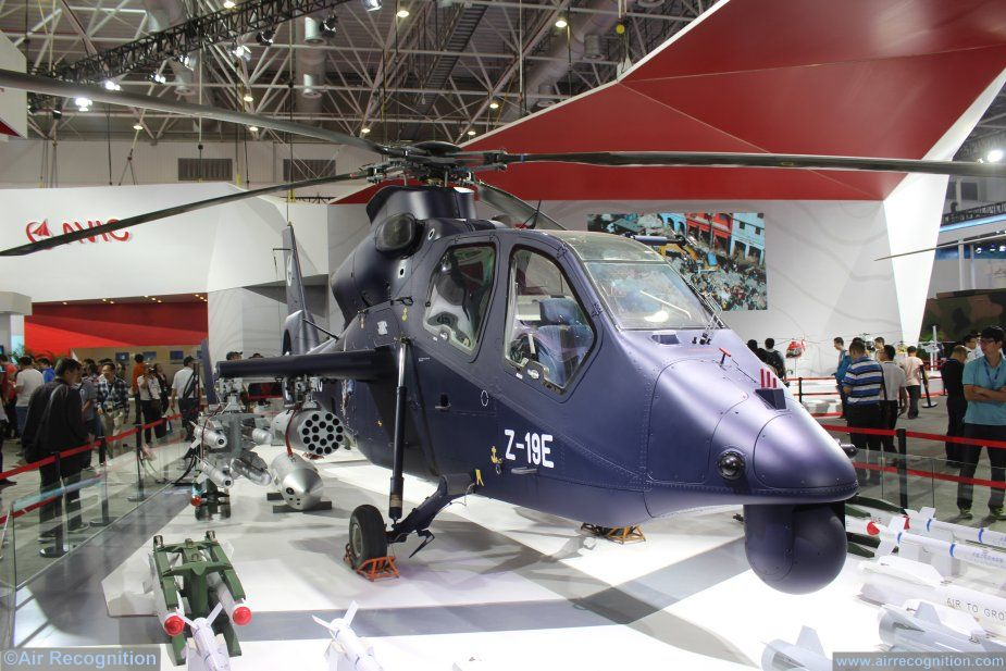 AVIC Z 19E attack helicopter achieves firing flight test