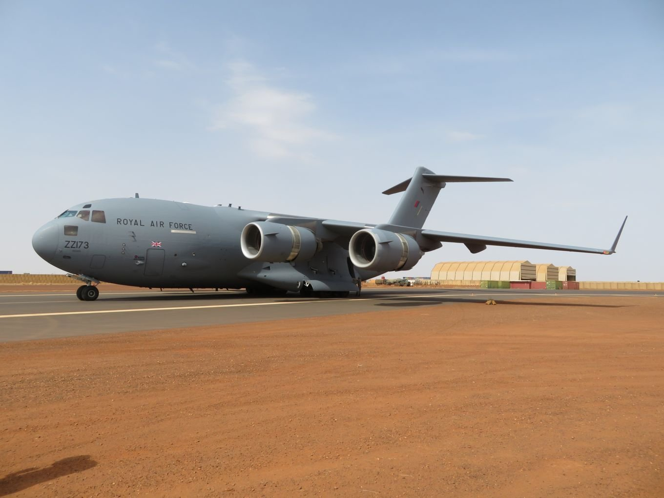 RAF C 17 completes first rotation at Gao airfield 001
