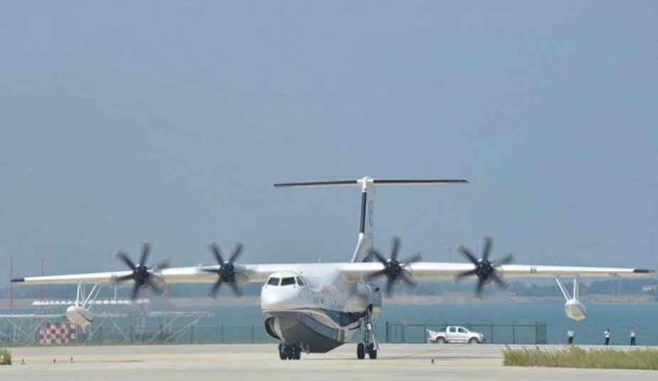 China made AG600 amphibious aircraft prepares for water surface tests