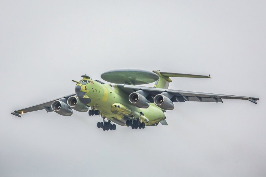 Russia A 100 AEW aircraft made second test flight 001