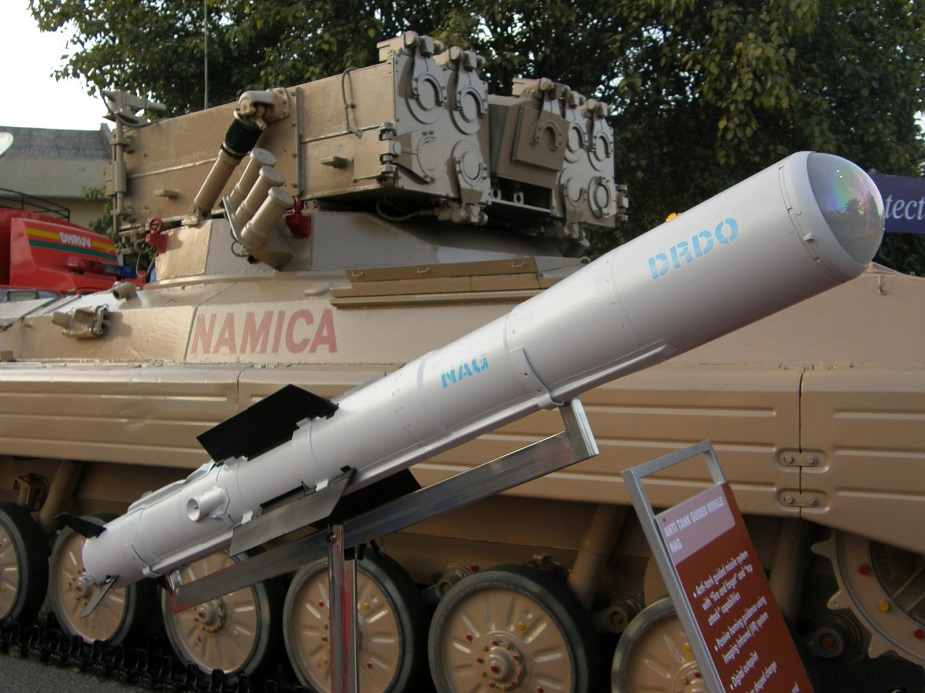 India Successful test for new helina anti armor missile from helicopter