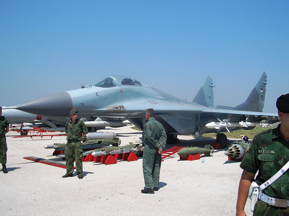 Serbia received four MiG 29 fighter jets from Belarus