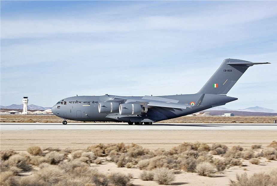 Boeing has delivered the 11th C17 Globemaster III transport aircraft to Indian Air Force 925 001