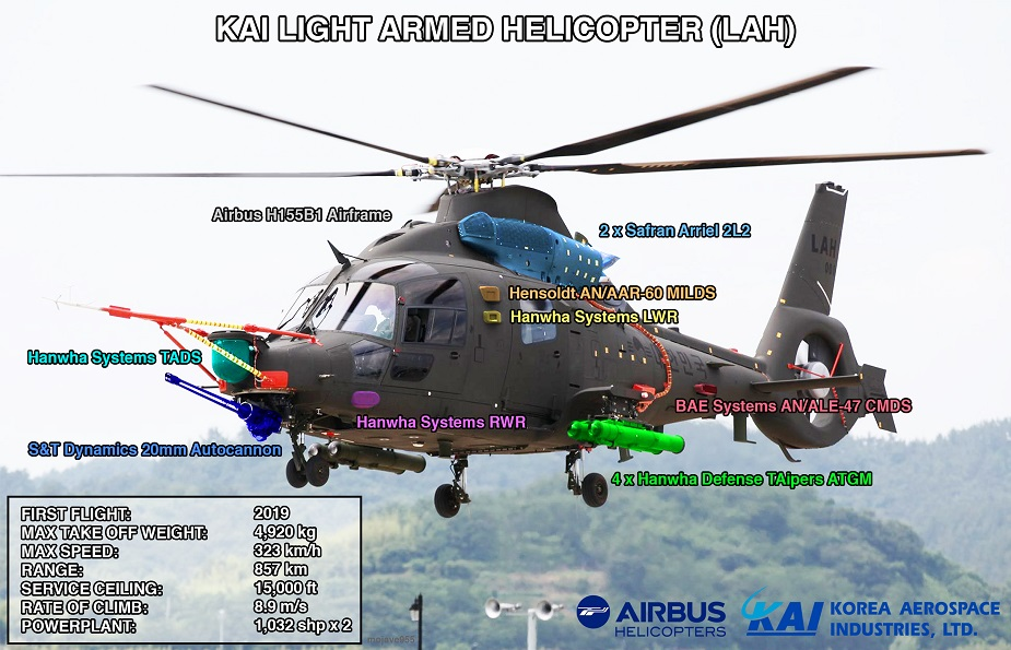 South Korean Light Armed Helicopter completes its first flight descriptif