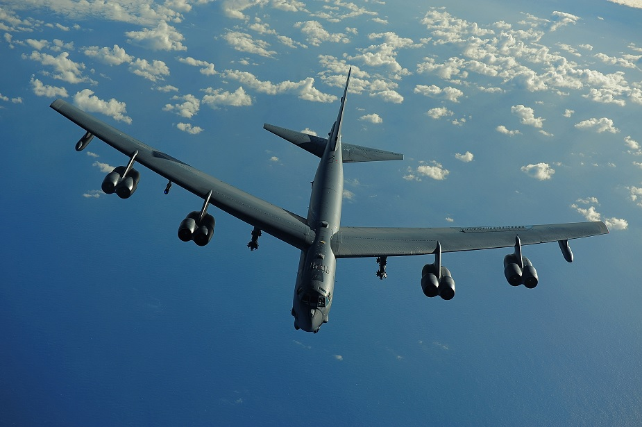US B 52 bombers training in Europe