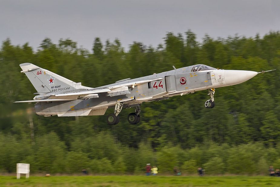 Russia has deployed two air divisions in the Kaliningrad region and Crimea SU 24M 925 001